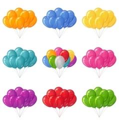 Balloons bunches set vector image