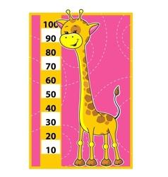 Giraffe scale vector image vector image