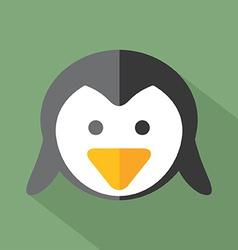 Modern Flat Design Penguin Icon vector image vector image