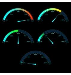 Power or Speed Meter Dashboard Gauge vector image vector image