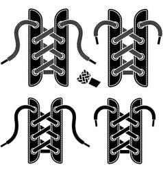 shoe lace symbols vector image vector image