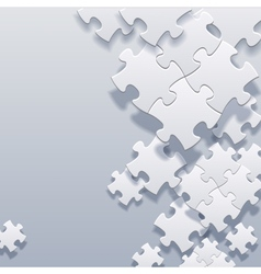abstract blank puzzles concept vector image vector image
