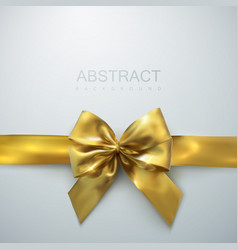 golden bow and ribbon holiday vector image