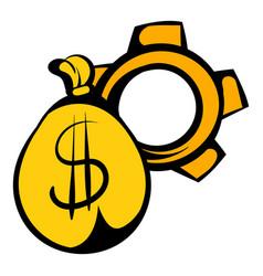 money bag icon icon cartoon vector image vector image