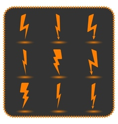 Set lightning vector image