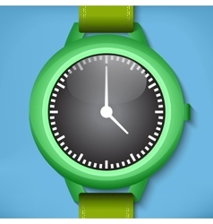 Green watches vector image