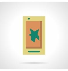 Mobile video flat color design icon vector image