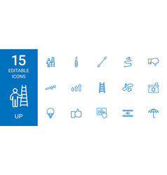 15 up icons vector