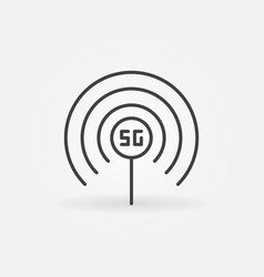 5g antenna concept icon in thin line style vector image