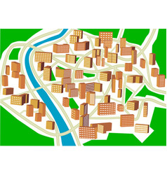 abstract town plan vector image