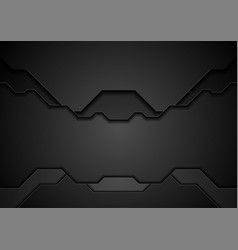 black technology concept abstract background vector image