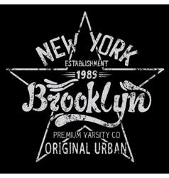 Brooklyn print design vector image