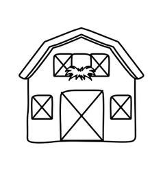 Building icon Farm concept graphic vector