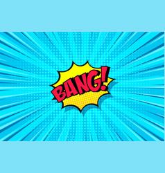 cartoon comic background speech bubble comics vector image