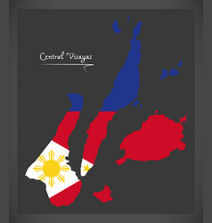 central visayas map of the philippines with vector image
