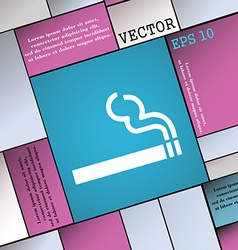 Cigarette smoke icon sign Modern flat style for vector