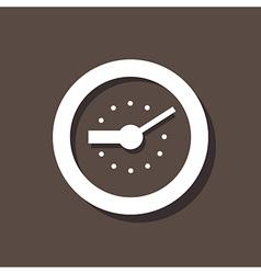 Clock Icon On Dark Background vector