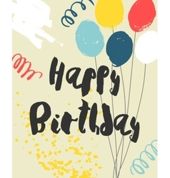 Colorful Happy Birthday Card template vector image