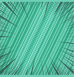 Comic page green background vector