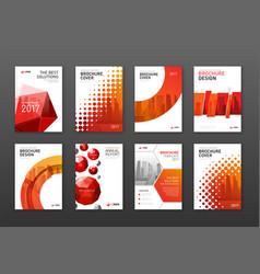 corporate brochure cover design templates set vector image