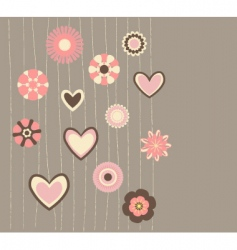 cute flowers3 vector image