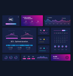 Dashboard infographics trading platform with vector