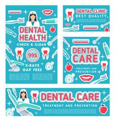 dental care clinic and dentistry medical checkup vector image