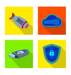 Design of virus and secure icon collection vector