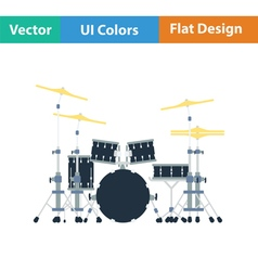 Drum set icon vector image