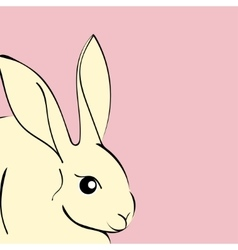 Easter Rabbit animal cartoon vector