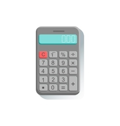 Electronic Calculator Office Worker Desk Element vector