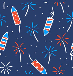 Fireworks and sparklers on a dark background vector