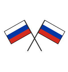 flag of russia stylization of national banner vector image