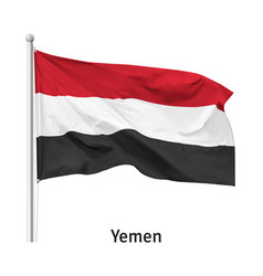 Flag republic yemen vector