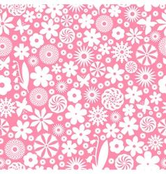 flower white pattern vector image