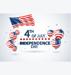 fourth july independence day usa design vector image