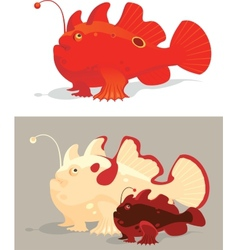 Frog fishes vector