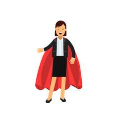full body portrait of business woman with red vector image