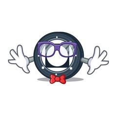 Geek byteball bytes coin character cartoon vector