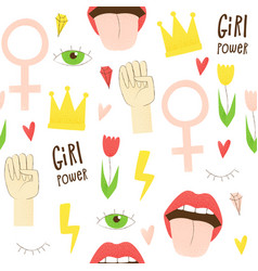 Girl power vector