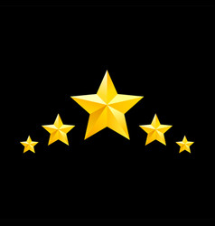 golden star symbols yellow elements for vector image