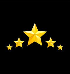 golden star symbols yellow elements vector image