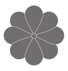 Grey flower icon vector