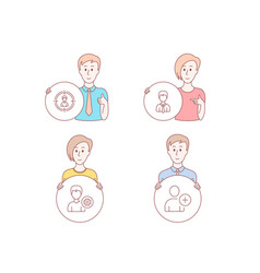 headhunting support and businessman icons add vector image