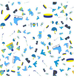 hockey seamless pattern vector image