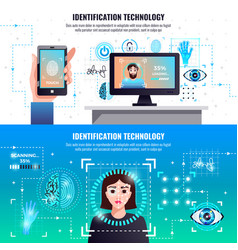 identification technologies banners vector image