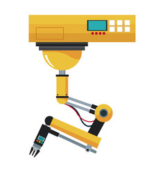 industrial robotic arm control system button vector image