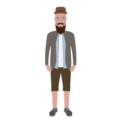 isolated hipster vector image