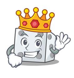 King dice character cartoon style vector