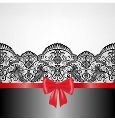 lace floral frame vector image